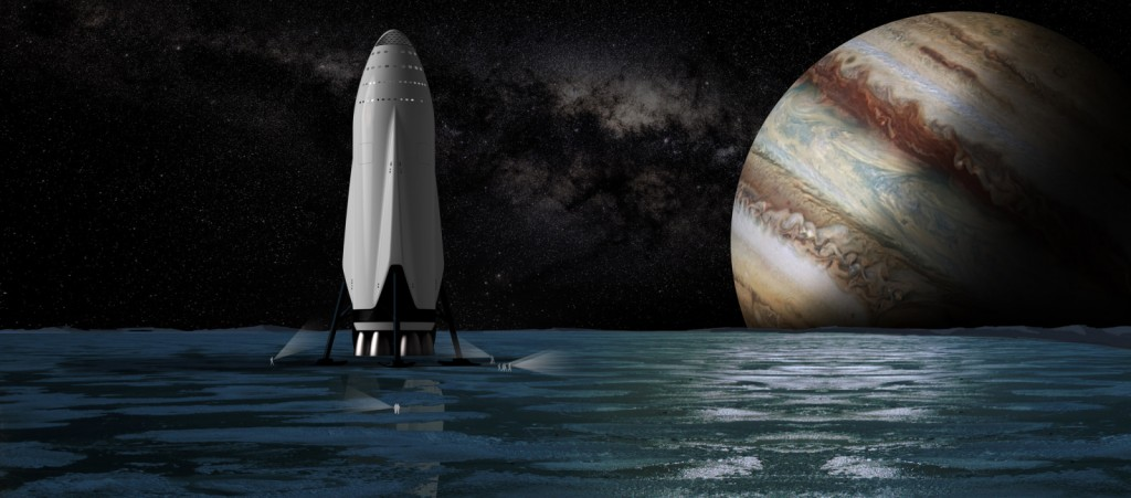 A brief stop on one of Jupiter's moons. (SpaceX)
