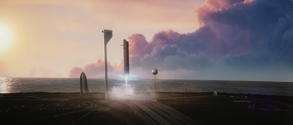 View from the passenger terminal. (SpaceX)